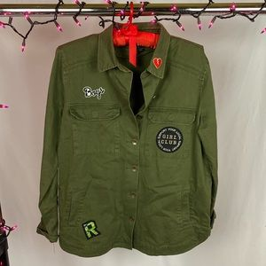 Never Look Back Green Girl Power Utility Jacket
